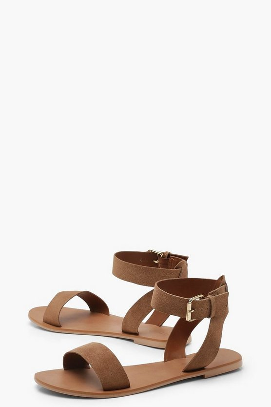 Two Part Suede Sandals