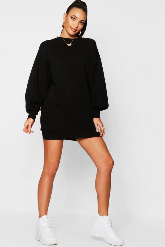 Womens The Perfect Oversized Volume Sleeve Sweat Dress