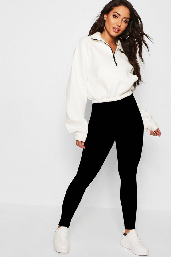 Womens Black Basic High Waisted Legging