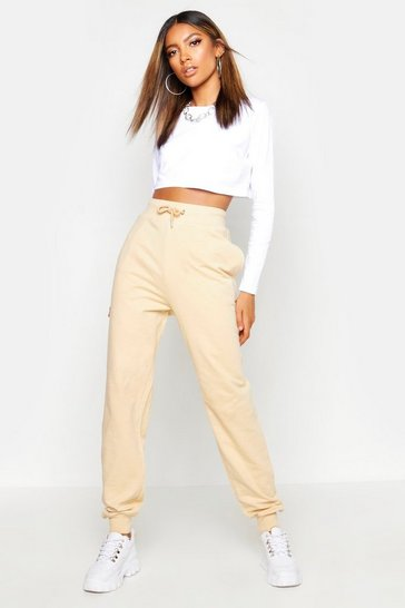 Womens Stone Basic Marl Sweat Joggers