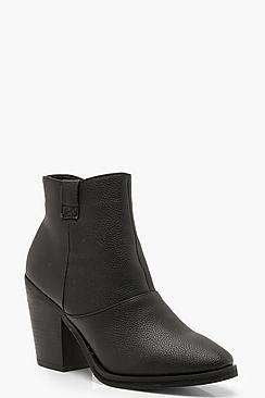 Loop Detail Western Boots
