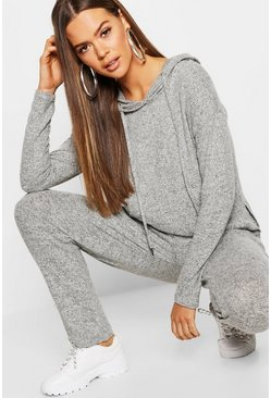 Womens Soft Touch Knitted Hoody