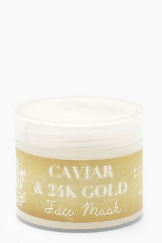 Womens Gold Luxury Caviar And Gold Face Mask