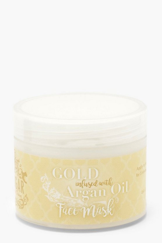 Womens Gold Luxury Gold Face Mask With Argan Oil