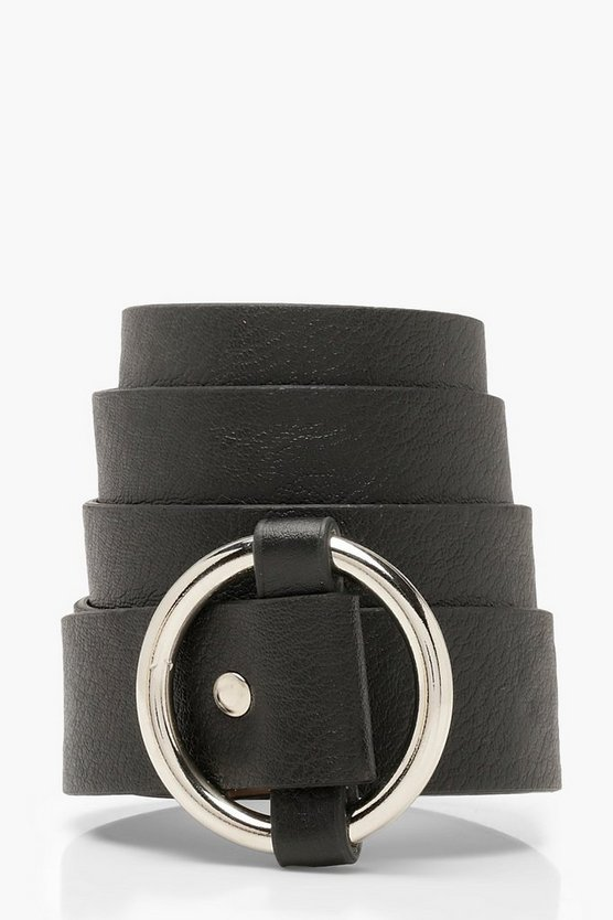 Black Ring Buckle Boyfriend Belt