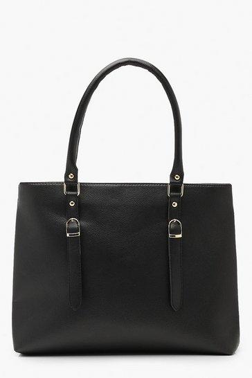 6661d21abd Double Buckle Detail Shopper Tote Bag