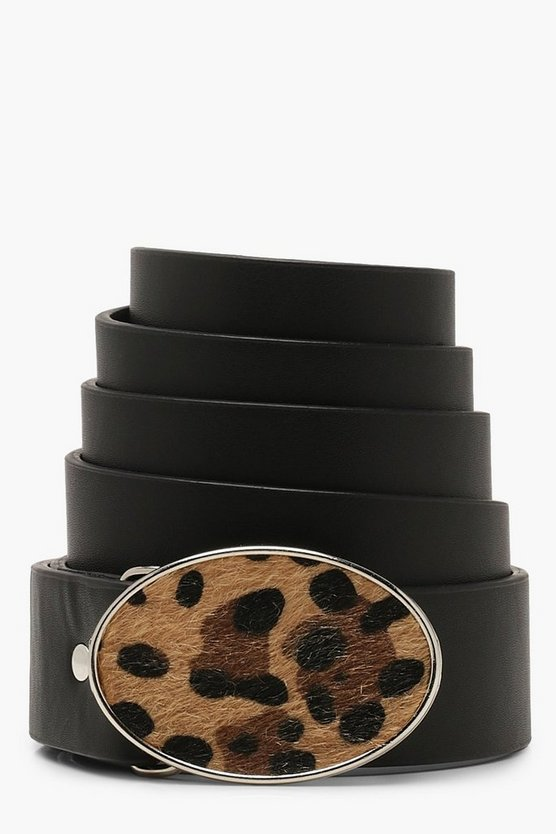 Leopard Buckle Boyfriend Belt