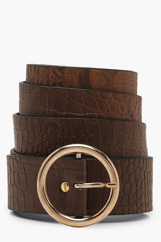 Croc Circle Buckle Boyfriend Belt