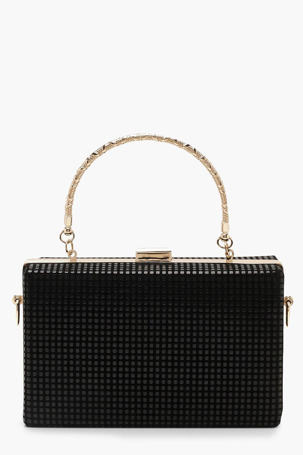 wholesale sales biggest selection 60% discount Chainmail Effect Box Clutch With Handle | Boohoo