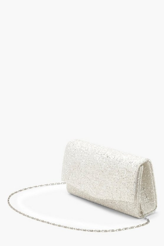 Chunky Glitter Structured Clutch