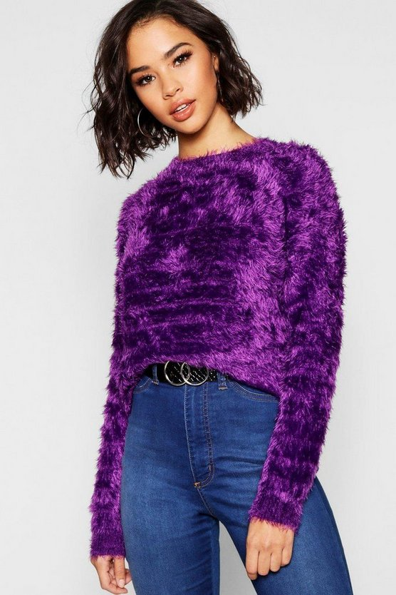 Feather Knit Fluffy Jumper