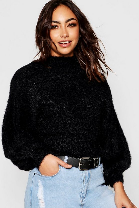 Balloon Sleeve Batwing Jumper