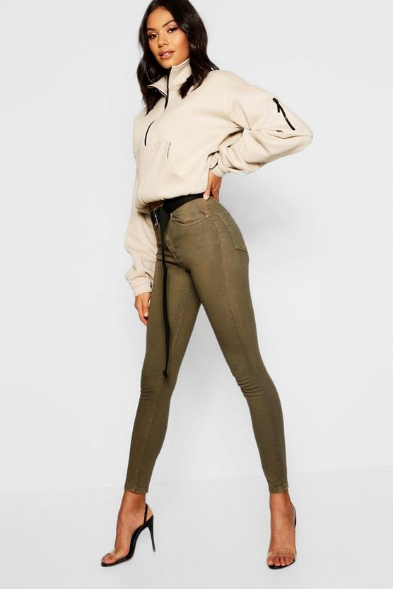 High Rise Disco Jean, Khaki, Женские