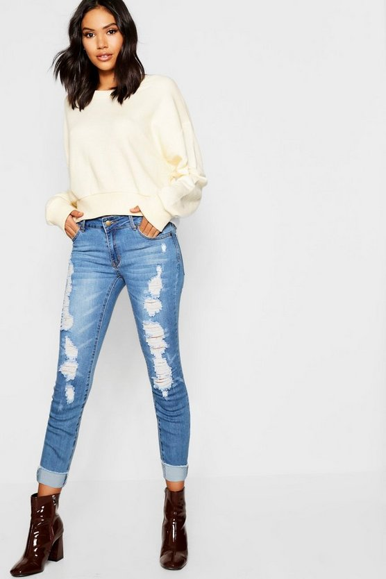 Low Rise Super Stretch Skinny Jeans