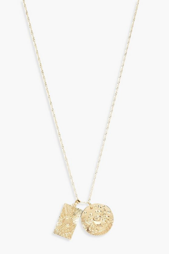 Crab & Coin Necklace