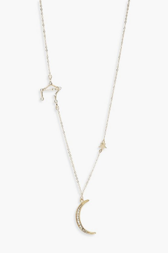 Womens Gold Cosmic Constellation Necklace