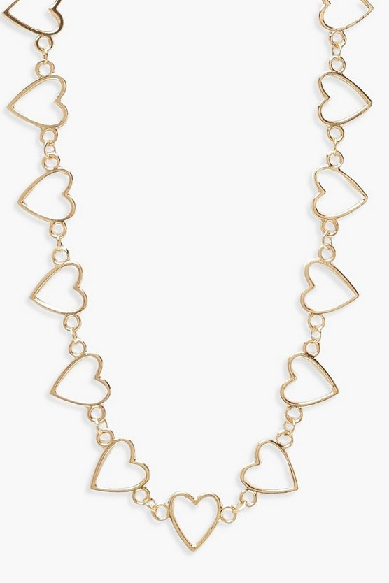 Oversized Heart Linked Necklace