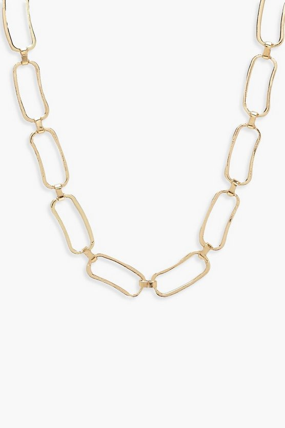 Chunky Linked Circle Necklace