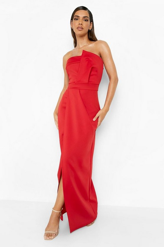 Bandeau Wrap Detail Maxi Dress