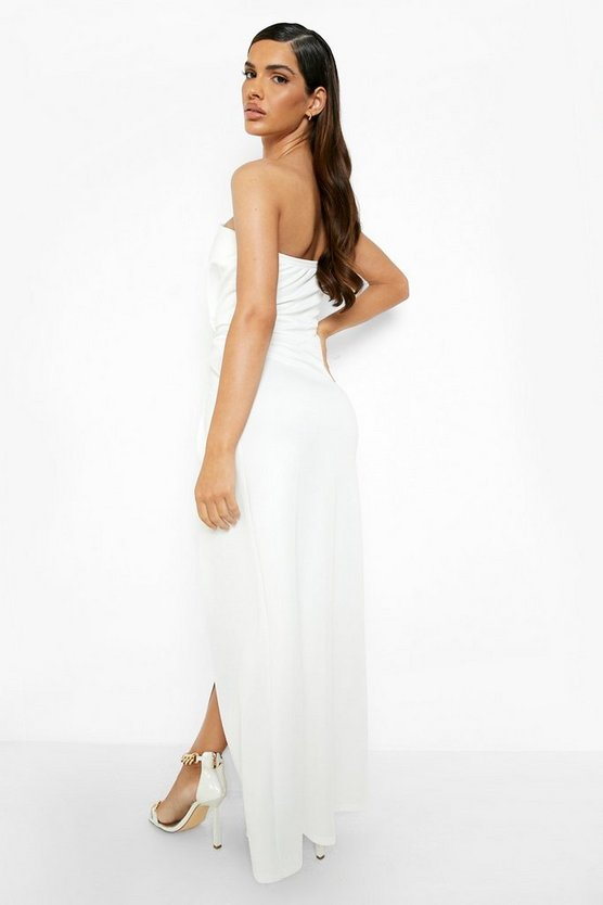 Bandeau Wrap Detail Maxi Dress
