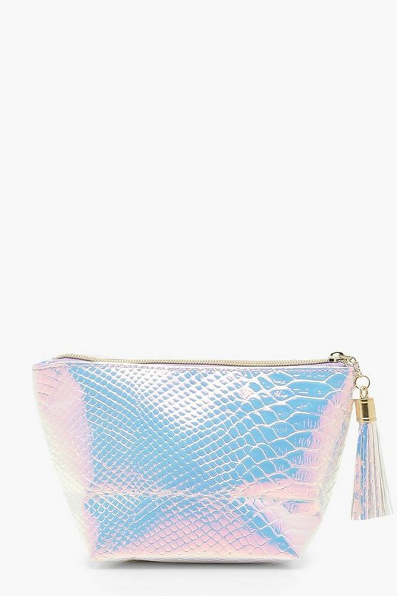 Holographic Mermaid Large Makeup Bag