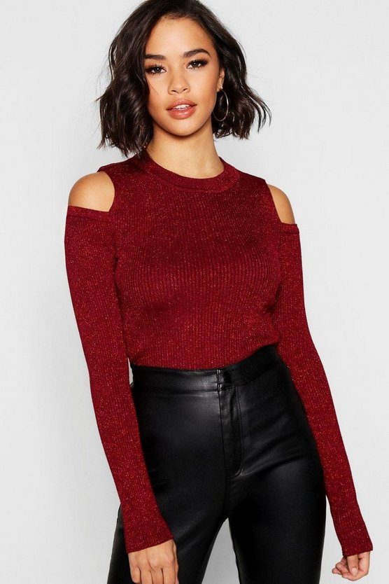 Round Neck Cold Shoulder Jumper