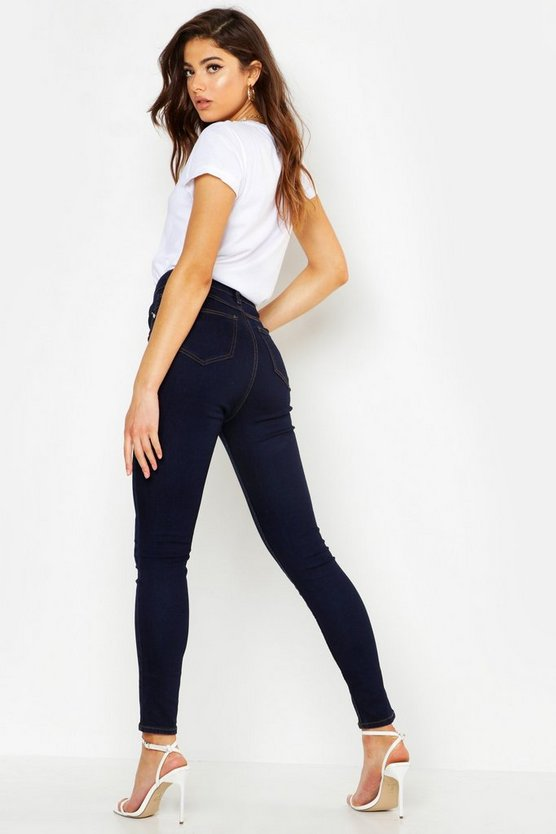 Mid Rise Butt Shaper Skinny Jeans