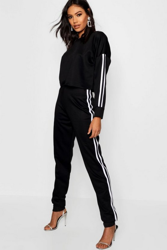 Side Stripe Sweat and Jogger Set