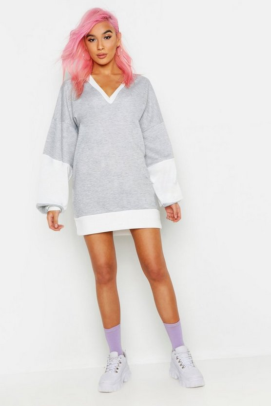 Extreme V Oversized Sweat Dress