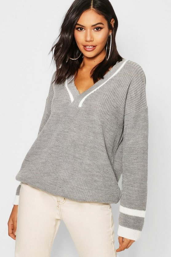 Deep V Sweater