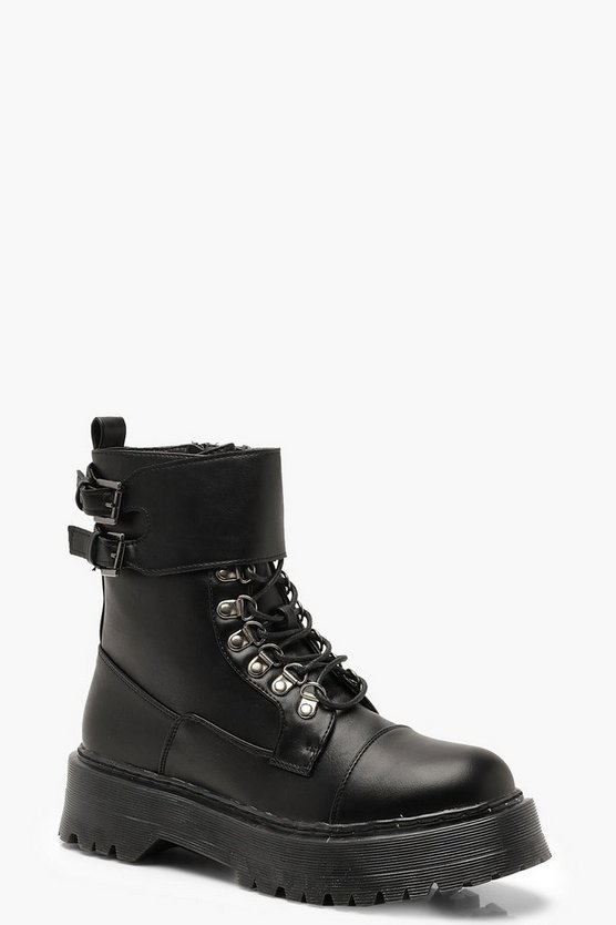 Chunky Lace Up Hiker Boots