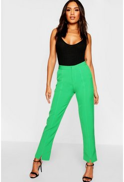 Womens Green Tailored Trouser