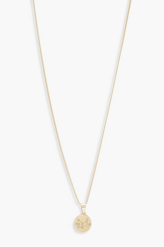 Gold Virgo Constellation Pendant Necklace