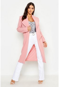 Womens Soft pink Oversized Fold Over Duster