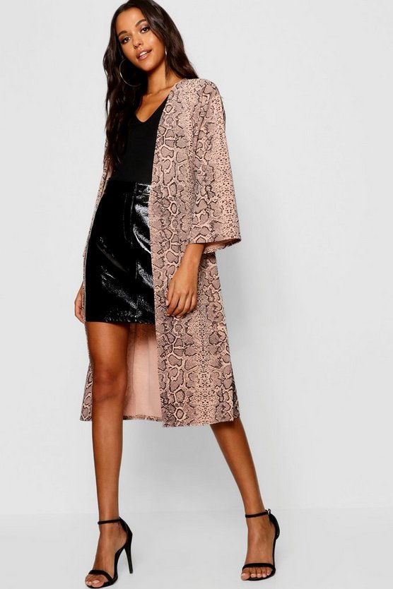 Snake Wide Sleeve Eyelet Duster