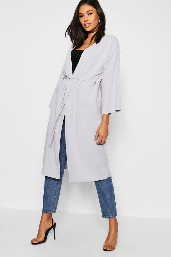 Wide Sleeve Eyelet Duster