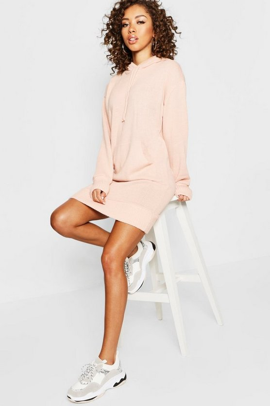 Hooded Oversized Knitted Dress