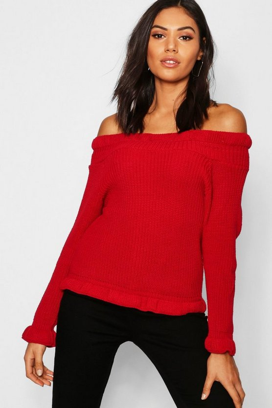 Bardot Off Shoulder Knitted Jumper