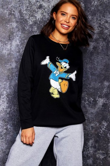 Womens Disney Donald Print Sweat