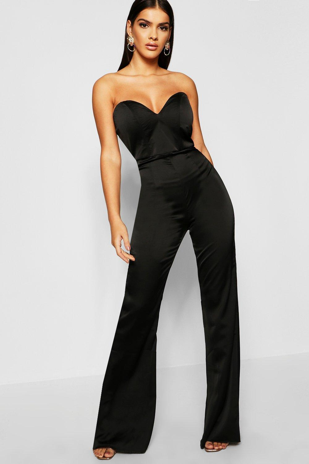 Satin Bustier Jumpsuit