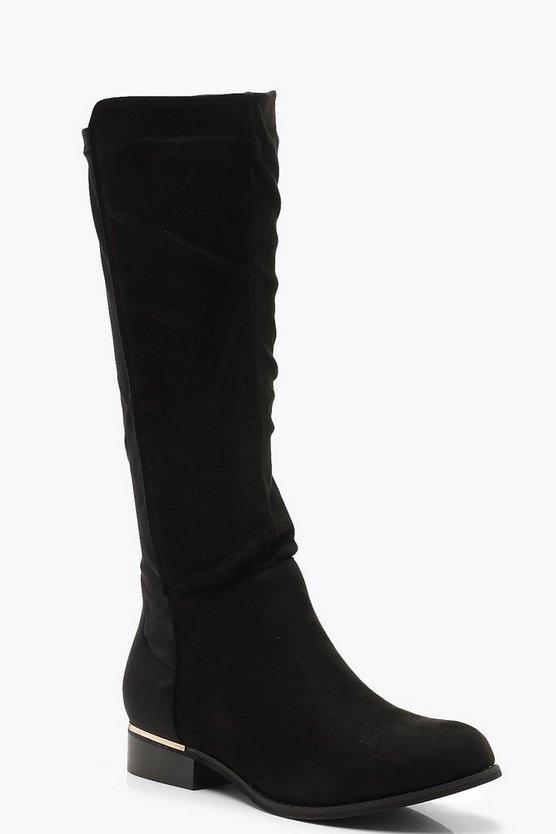 Flat Stretch Back Rider Boots