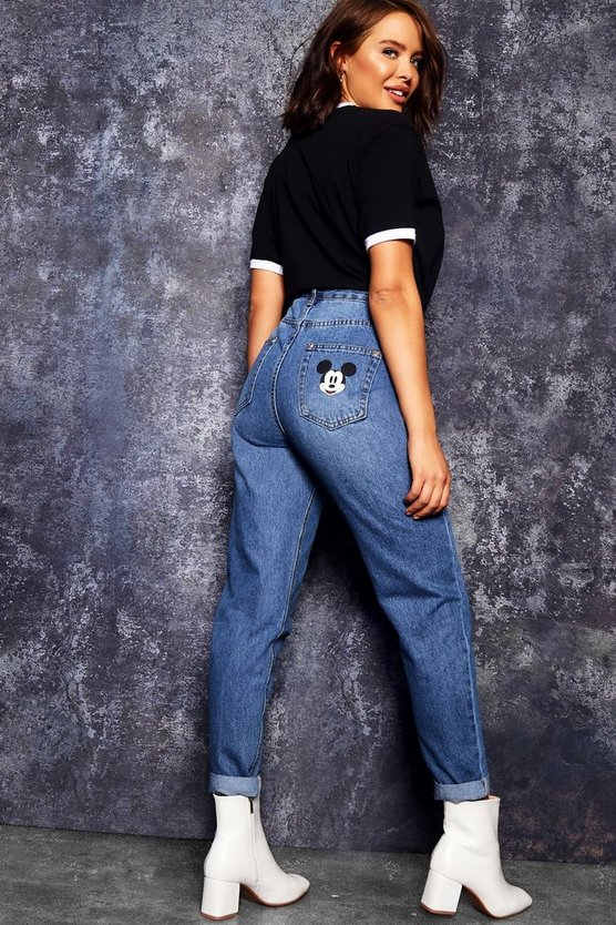 Disney Mickey Pocket Mom Jeans