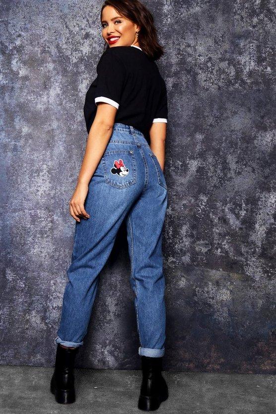 Disney Minnie Pocket Mom Jeans by Boohoo