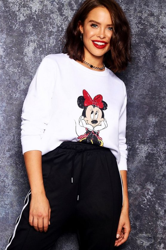 Disney Minnie Sweatshirt in used-Optik