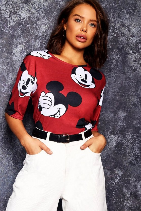 Disney Mickey Repeat Print Tee