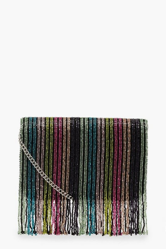 Rainbow Bead Cross Body