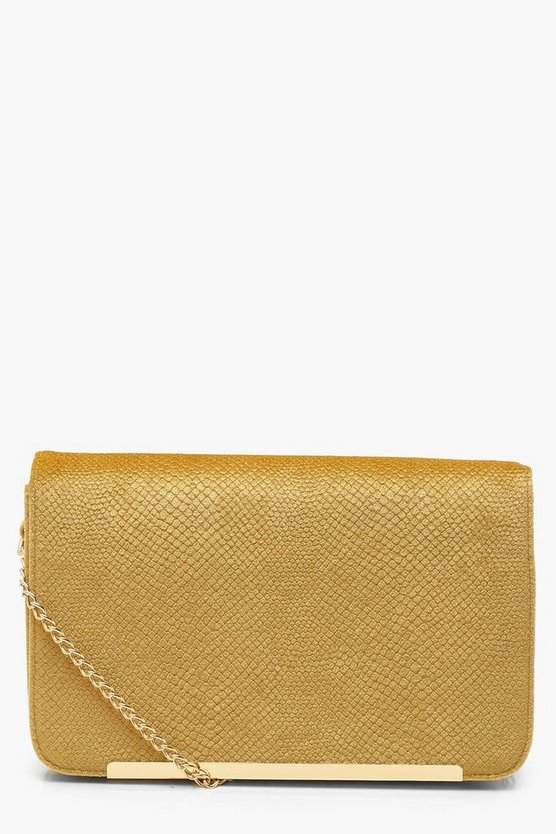 Velvet Snake Cross Body Bag