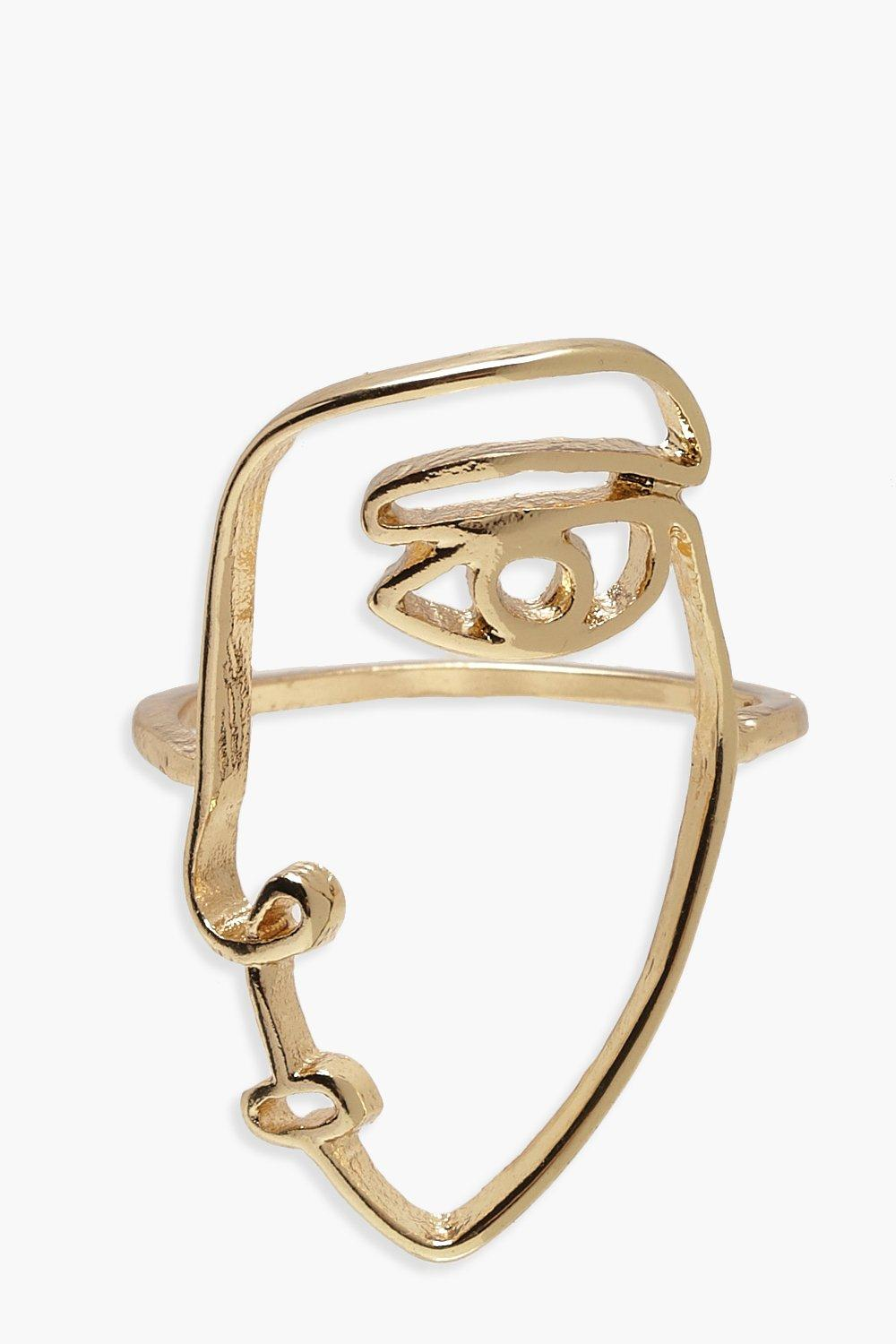 Face Profile Skinny Ring