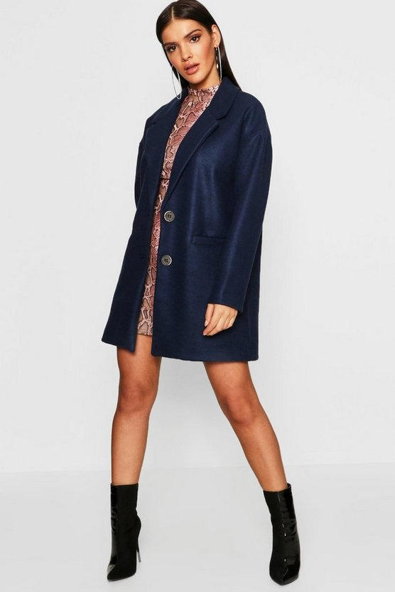 Oversized Boyfriend Wool Look Coat