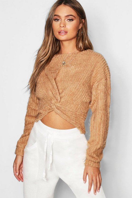 Twist Front Crop Jumper